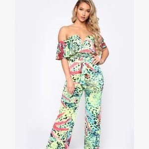 NWT Jumpsuit in Neon Green XS